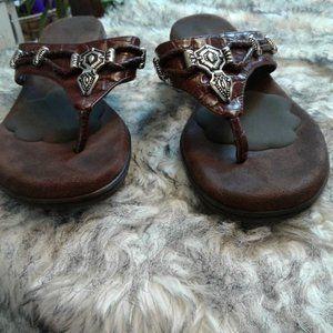 RIALTO 8.5 M Sandal F Sandals  Brown Braided 8.5